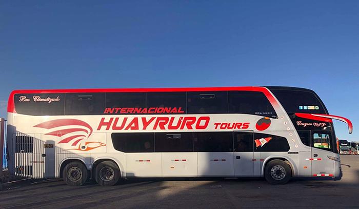 Así es la flota de Huayruro Tours